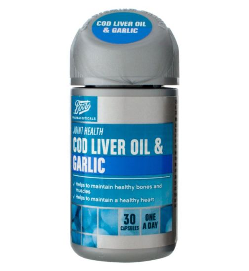 Boots COD LIVER OIL & GARLIC 30 Capsules