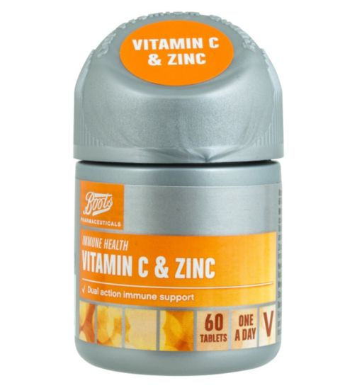 Boots Vitamin C and Zinc 60 Tablets