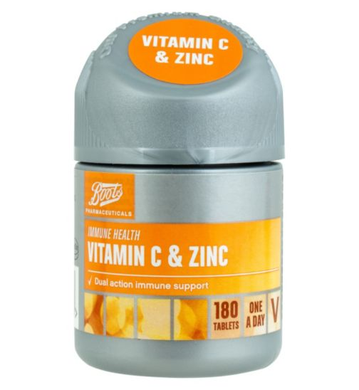 Boots Vitamin C and Zinc 180 Tablets