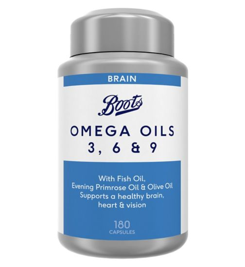 Boots Omega Oils 3 6 & 9 180 Capsules