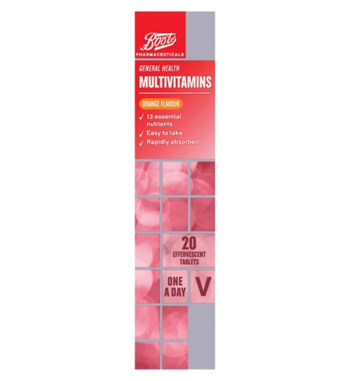 Boots  MULTIVITAMINS ORANGE FLAVOUR  20 tablets
