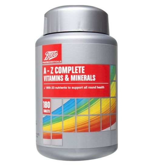 Boots A - Z Complete Vitamins & Minerals - 180 Tablets