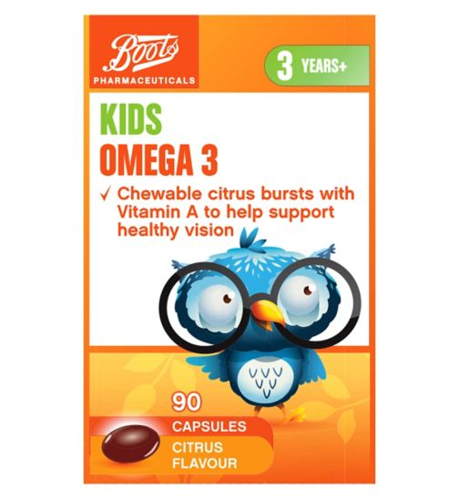 Boots Chewable Omega 3 Citrus  90 Capsules