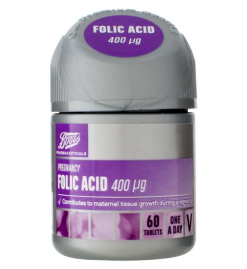 Boots Folic Acid 400 µg - 60 tablets