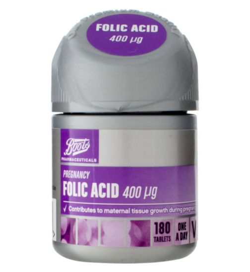 Boots Folic Acid 400 µg 180 Tablets