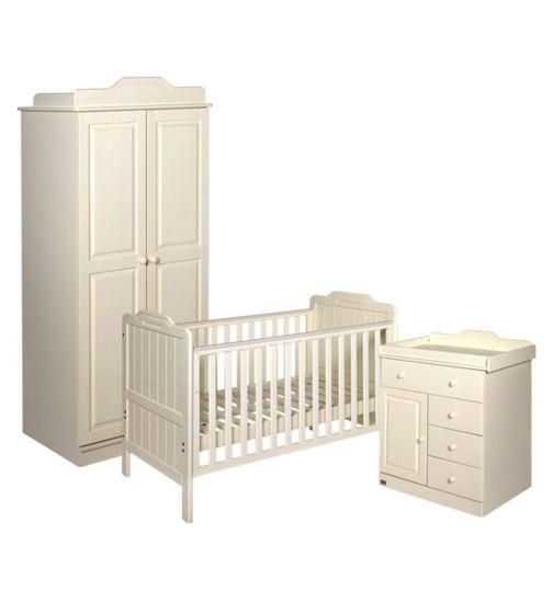 Tutti Bambini Alexia 3 Piece Room Set - Vanilla Finish