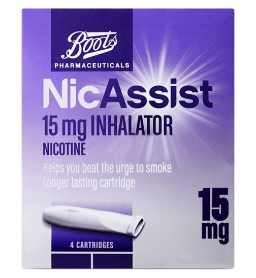 Boots Pharmaceuticals NicAssist Inhalator 15mg - 4 pack