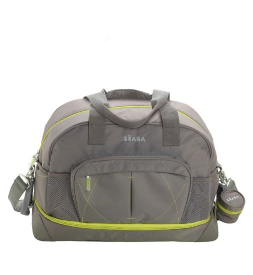 Beaba Baby Amsterdam Extensible Changing Bag -  Grey & Green