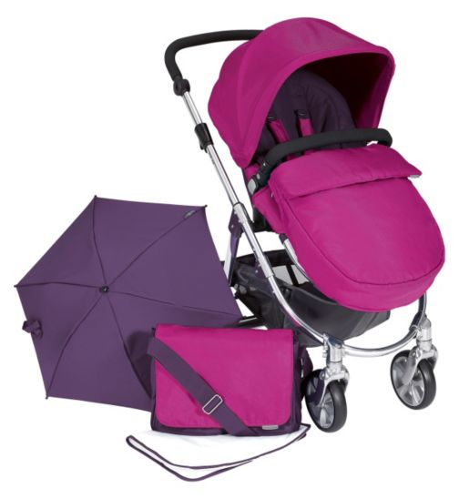 Mamas & Papas Rubix Pushchair Package- Fuschia
