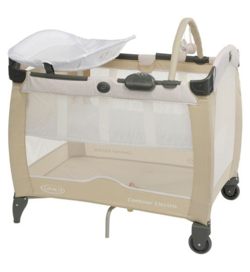 Graco Contour Electra Baby Travel Cot with Bassinet  - Benny & Bell