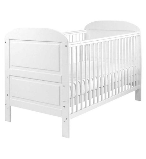 East Coast Angelina Cot Bed - White Finish