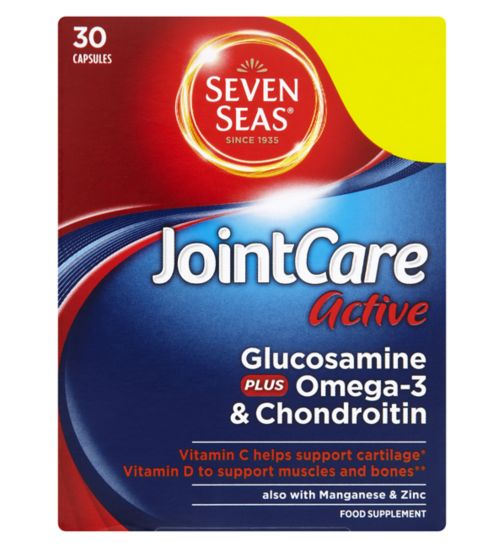 Seven Seas JointCare Active Glucosamine Plus Omega-3 & Chondroitin 30 Capsules