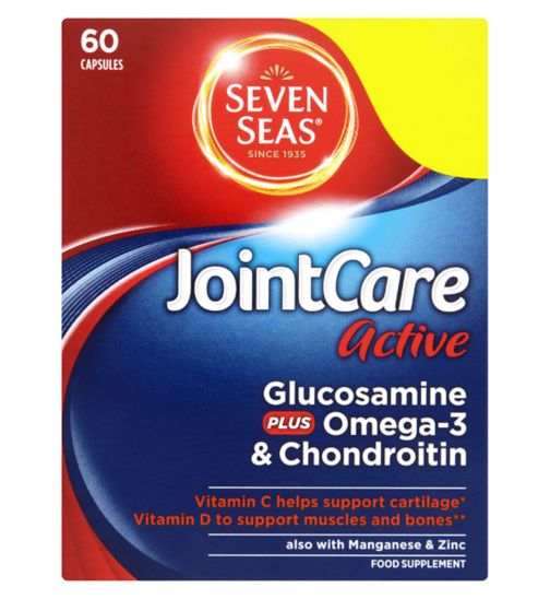 Seven Seas Joint Care Active Glucosamine Plus Omega-3 & Chondroitin 60 Capsules