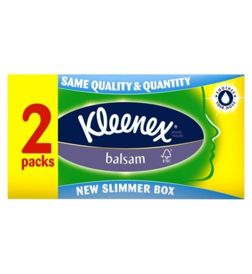 Kleenex Balsam Tissues Twin Pack