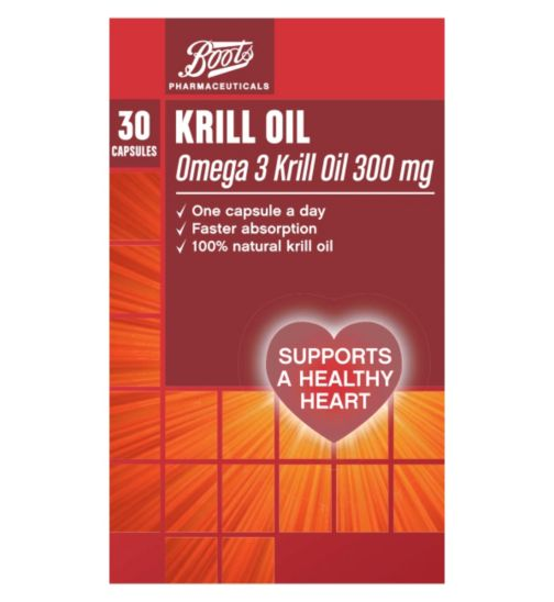 Boots Krill Oil 300mg  - 30 Capsules