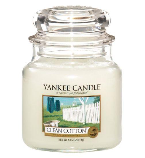 Yankee Candle Medium Jar Candle - Clean Cotton