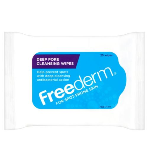 Freederm Deep Pore Facial Cleansing Wipes 25s