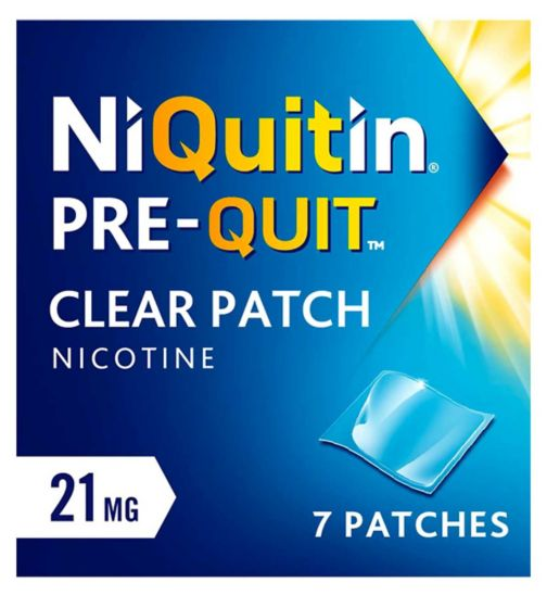 Niquitin Pre-Quit Clear 21mg Patch - 7 clear patches (1 week kit)