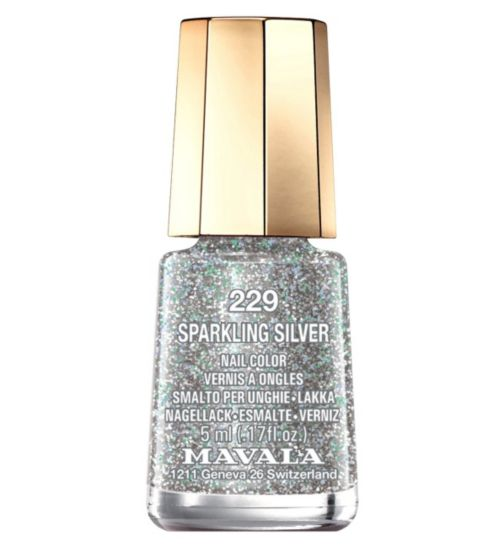 Mavala Mini Colour Nail Polish Sparkling Silver 5ml