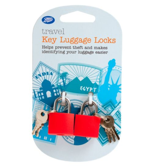 Boots Travel Colourful Luggage Locks with Keys