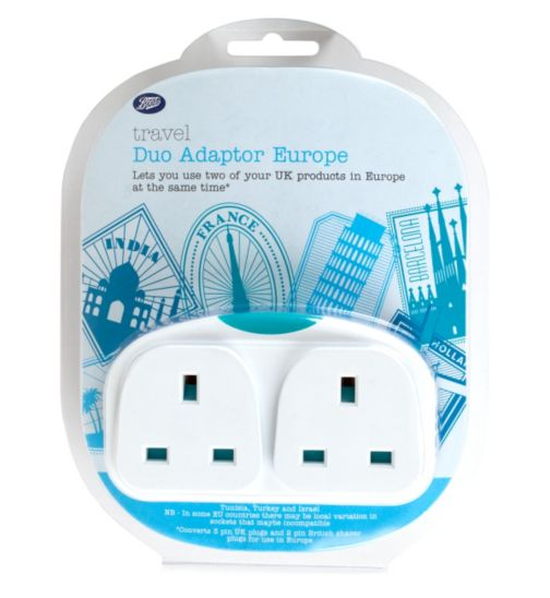 Boots Duo UK to Europe Travel Plug Adaptor