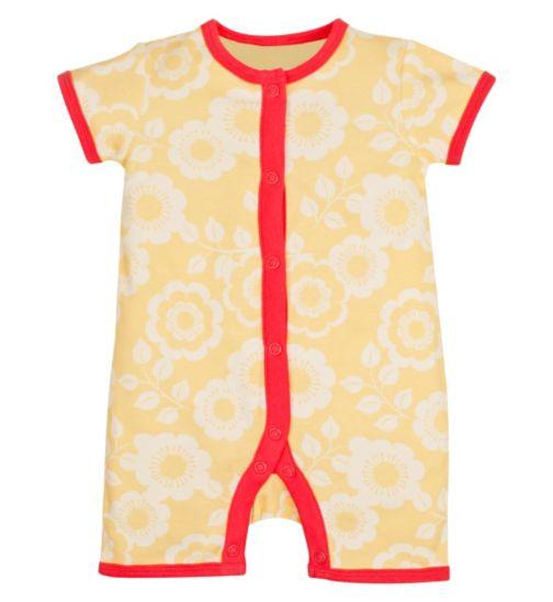 Mini Club Newborn Girls Yellow Flower Romper