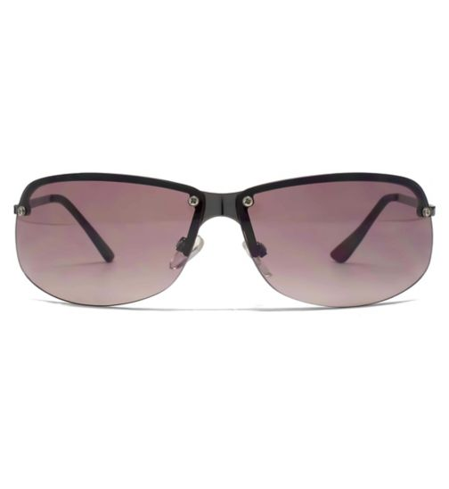 c5a573699b2 French Connection Ladies Sunglass Overlaid Shaped Rectangle Pewter 26French  ConnectionU079