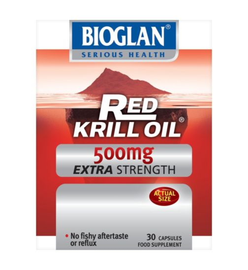 Bioglan Red Krill Oil Pure Extra Strength 500mg - 30 capsules