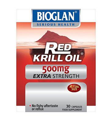 Bioglan Red Krill Oil Pure Extra Strength 500mg - 30 capsules
