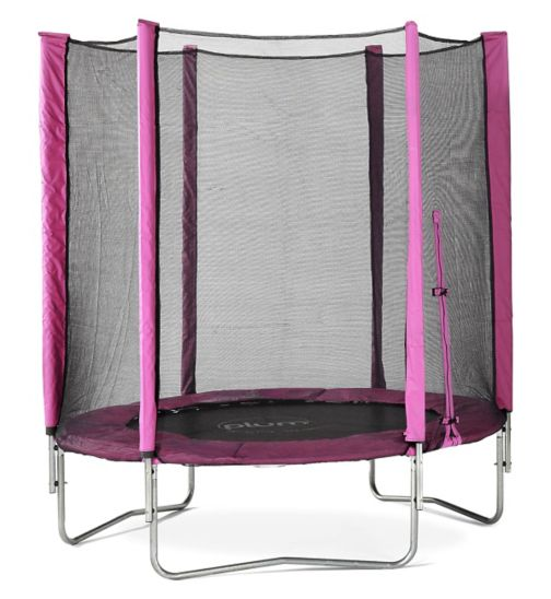 Plum® 6ft Trampoline and Enclosure Pink