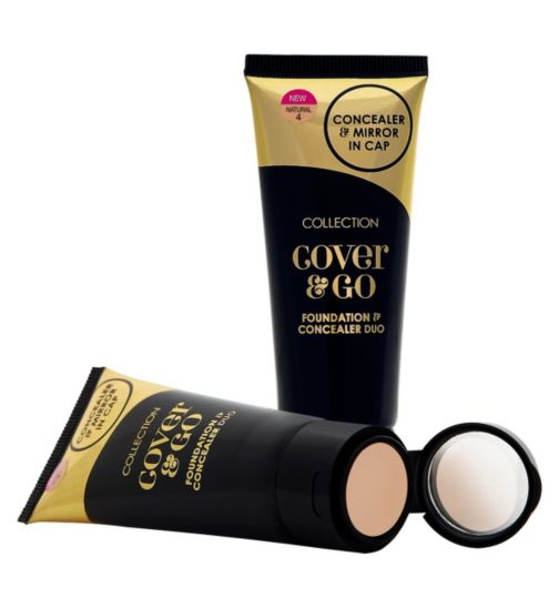 COLLECTION Cover & Go Foundation And Concealer Duo And Mirror ...