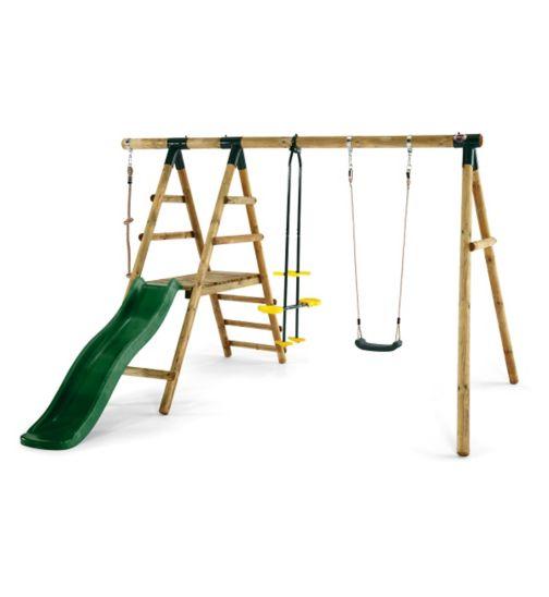 Plum® Meerkat Wooden Garden Swing Set