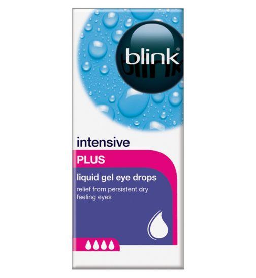 Blink Intensive Tears Plus Liquid Gel Eye Drops - 10ml