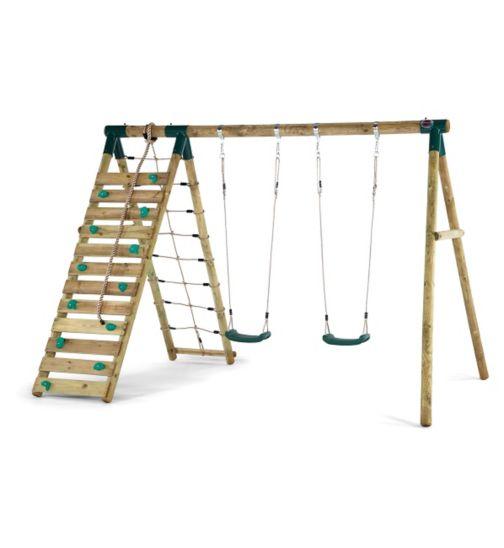 Plum Uakari® Wooden Garden Swing Set