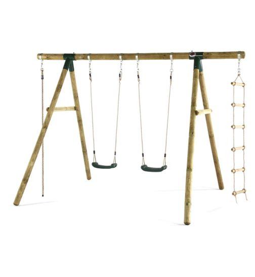 Plum Gibbon® Wooden Garden Swing Set
