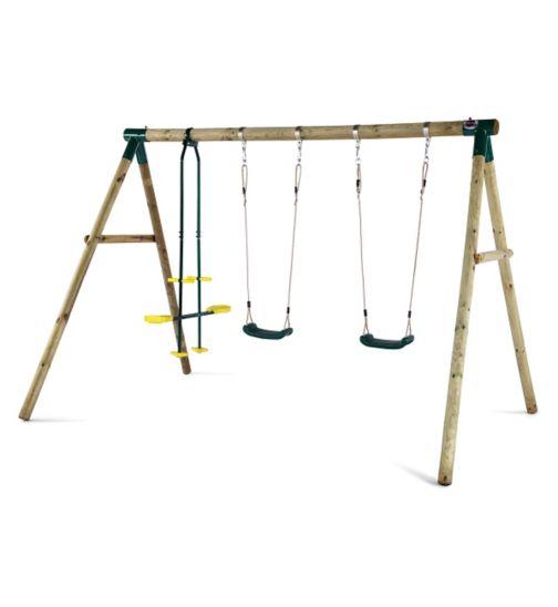 Plum Colobus® Wooden Garden Swing Set