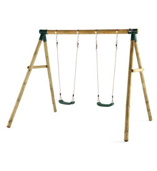 Plum Marmoset® Wooden Garden Swing Set