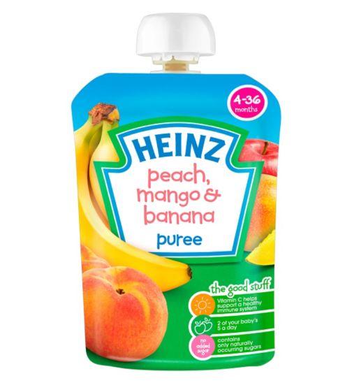 Heinz 4-36 Months Peach, Mango & Banana Puree 100g