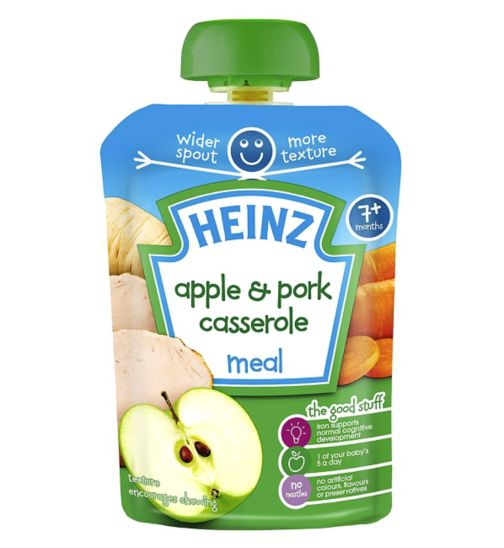 Heinz 7+ Months Mashed Apple & Pork Casserole 130g