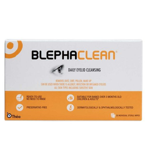 Blephaclean - 20 Sterile Ready-To-Use Wipes