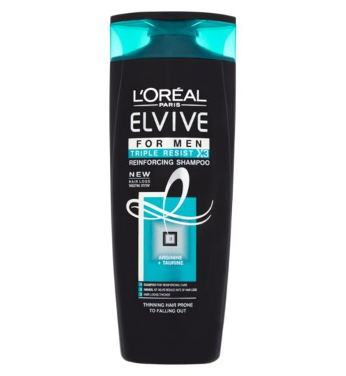 L'Oréal Elvive Men Triple Resist Shampoo 400ml