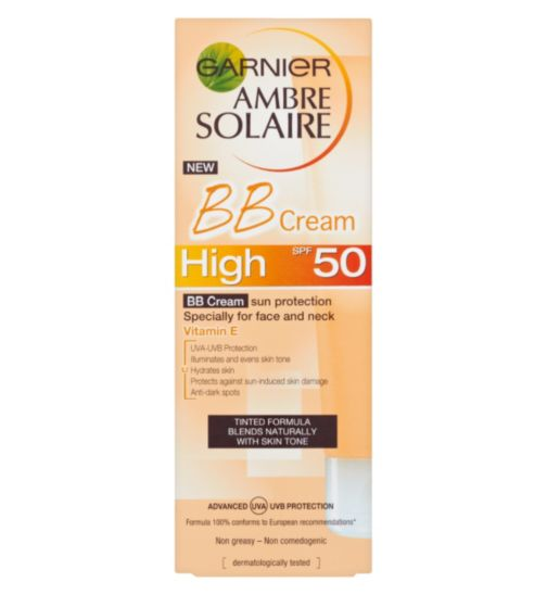 Ambre Solaire BB Sun Cream Face and Neck SPF50 50ml