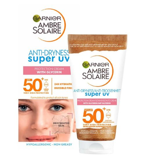 Ambre Solaire Sensitive Face and Neck Sun Cream SPF50+ 50ml