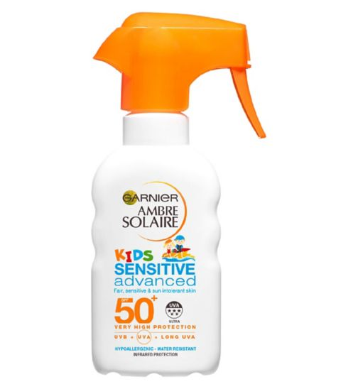 Ambre Solaire Kids Sensitive Sun Cream Trigger Spray SPF50+ 200ml