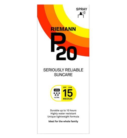 Riemann P20 Once a Day Sun Protection Spray SPF 15 Medium 200ml