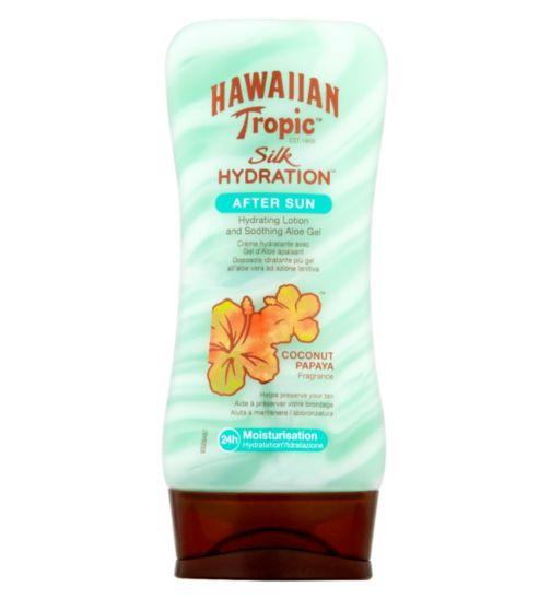 Hawaiian Tropic Silk Hydration Aftersun Coconut Papaya Fragrance Lotion 180ml