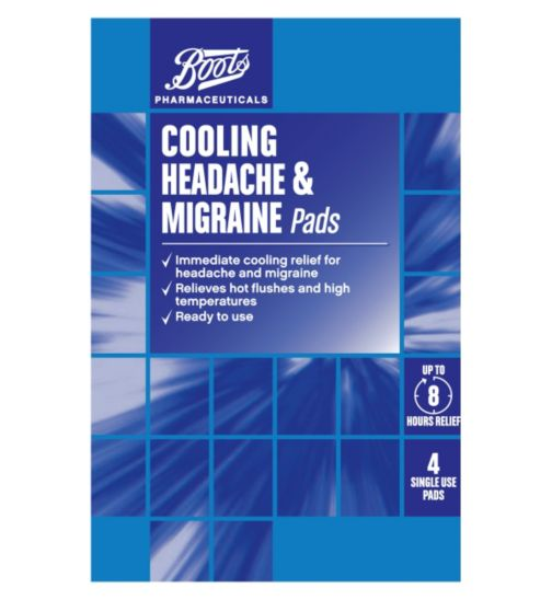 Boots Cooling Headache and Migraine Pads (4 Pads)