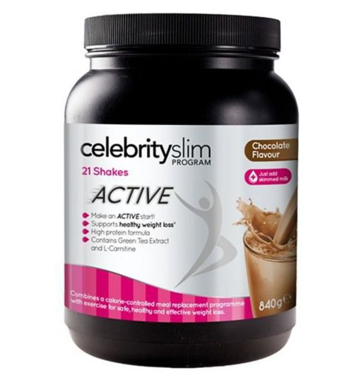 Celebrity Slim Active Shake Chocolate with sweetener - 21 x 40g
