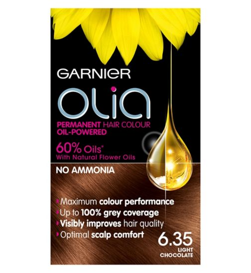 Garnier Olia 6.35 Light Chocolate Brown Permanent Hair Dye