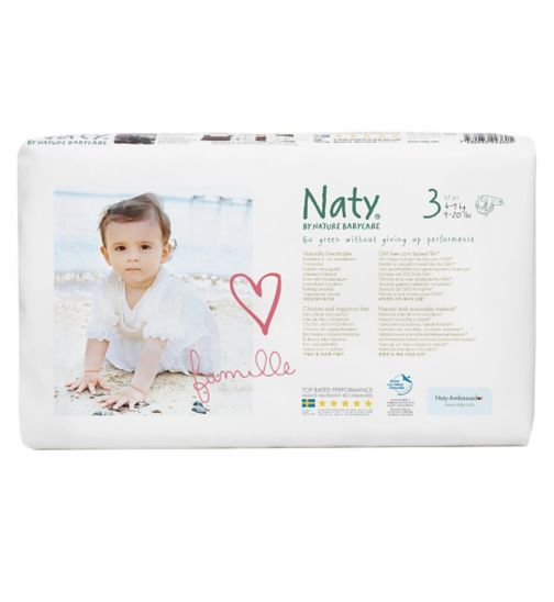 Naty by Nature Babycare Nappies 52 pack size 3